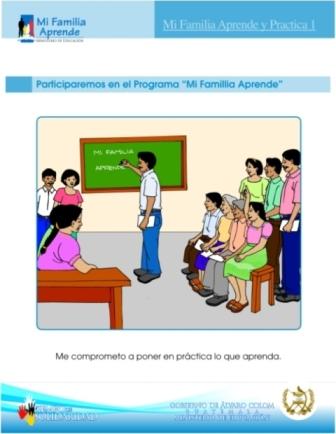 Afiche Mi Familia Aprende 1