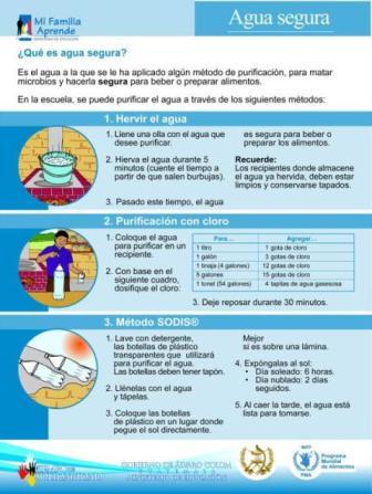 Afiche Agua Segura