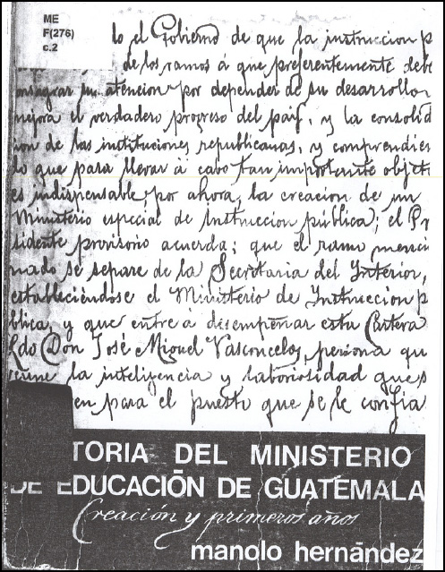 Historia del Ministerio de Educación